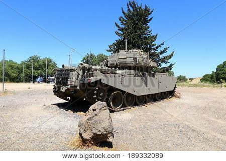 Tank - armored combat vehicle on caterpillar tracks with cannon armament