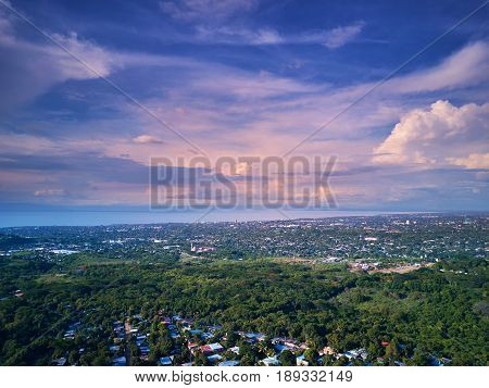 Colorful Managua Cityscape