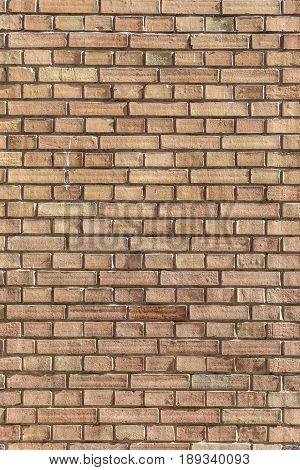 pattern of old red brick wall in harmonic structure