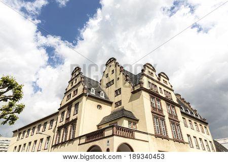 Facade Of R Court Building In Frankfurt