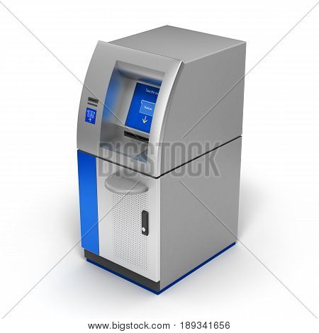 Atm Bank Cash Machine Isolated On White 3D