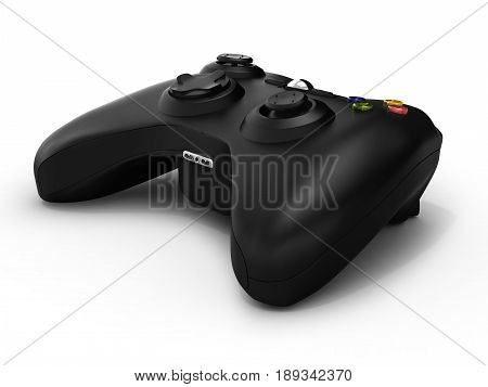 Black Gamepad Isolated On White Background 3D