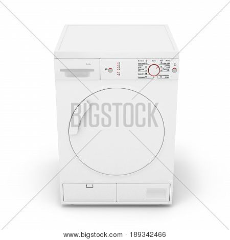 Dryer Machine Isolated  On White Background 3D