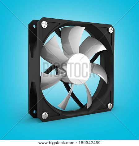 computer cooler isolated on gradient background 3d
