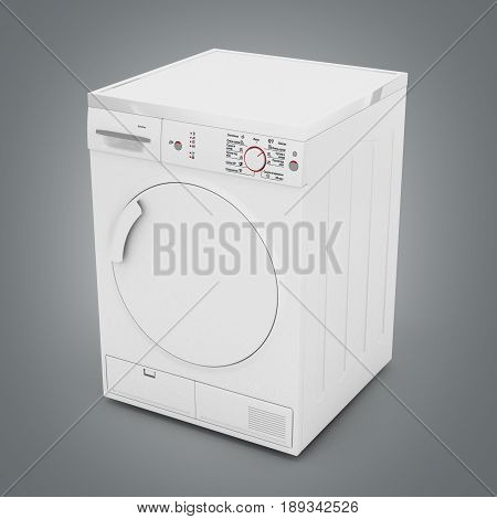 Dryer Machine Isolated On Gradient Background 3D