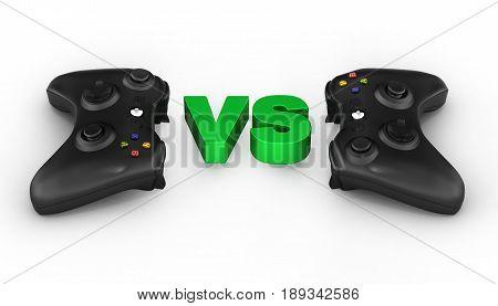 Multiplayer Games Illustration On White Background 3D