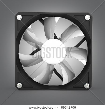 Computer Cooler Isolated On Grey Gradient Background 3D Illustration