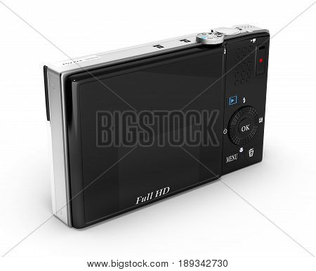 Digital Photo Camera Isolated On White Background 3D Render