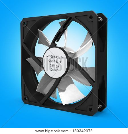 Computer Cooler On Gradient White Background 3D