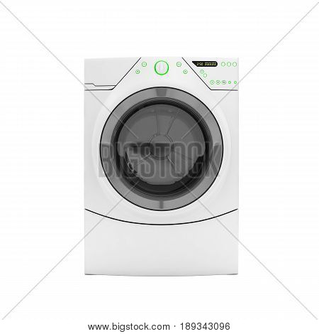 Washing Machine Without Shadow On White Background 3D Render