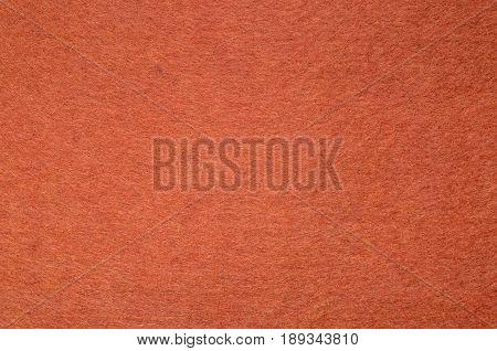 Red Color Felt Texture Background. Fiber texture of felt close-up
