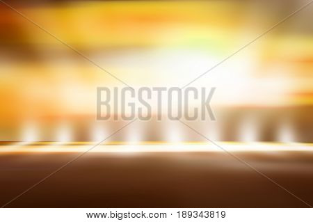 soft gold studio room background, yellow floor backdrop with spotlight