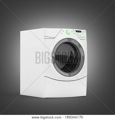 Washing Machine On Grey Gradient Background 3D Illustration