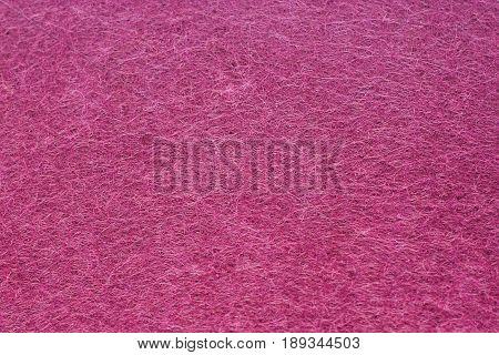 Purple Color Felt Texture Background. Fiber texture of felt close-up