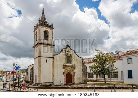 BATALHA,PORTUGAL - MAY 11,2017 - View at the church of Martriz in Batalha. The Batalha convent was added in 1983 by UNESCO to its list of World Heritage sites.