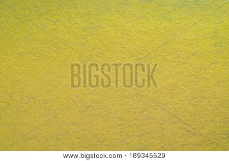 Yellow Felt Texture Background. Fiber texture of felt close-up