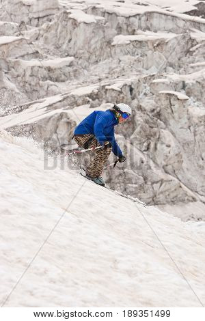 Freeride in a mountains, Caucasus, summer, 2010