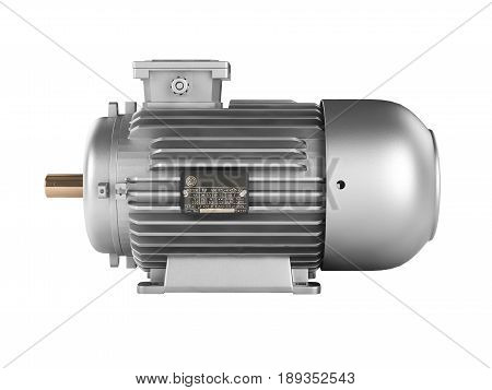 Electric Motor Without Shadow Isolated On White Background 3D