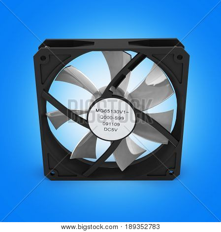 Computer Cooler Isolated On Blue Gradient Background 3D