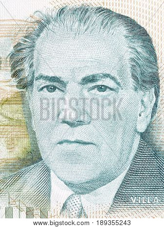 Heitor Villa-Lobos portrait from Brazilian money - Cruzados