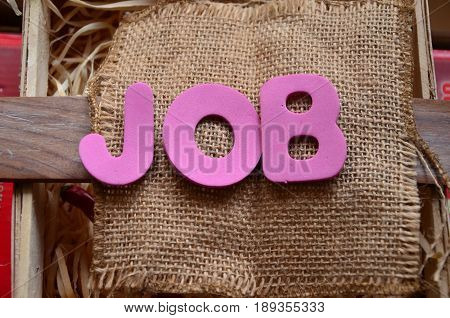 word job on a  abstract colorful background