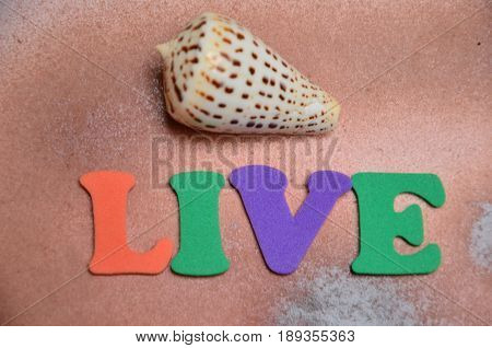 word live on a  abstract colorful background