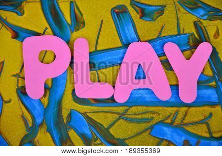 word play on a  abstract colorful, mbackground