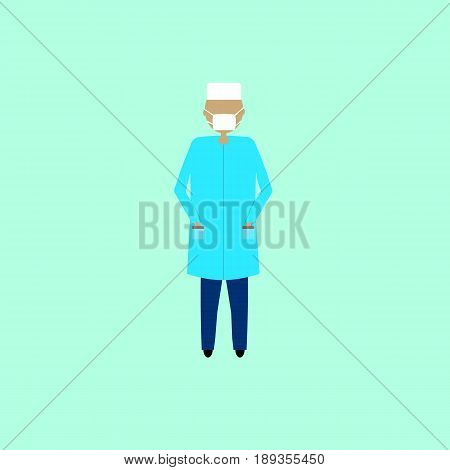 Doctor, vecto illustration in flat design isolated