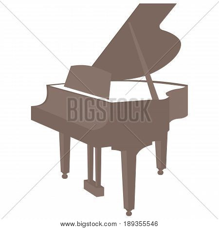 Classic piano vector icon isolated on white background