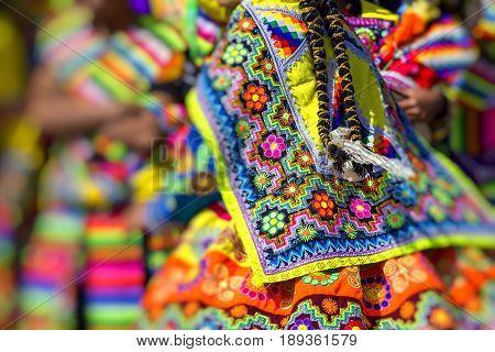 Cusco - Peru - June 06, 2016 : Peruvian Dancers At The Parade In Cusco. People In Traditional Clothe