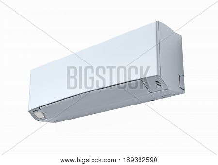 Air Conditioner Without Shadow On White Wall 3D