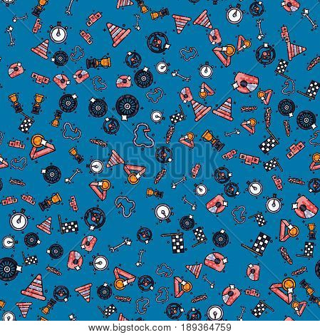Racing set pattern. Vector illustration EPS 10