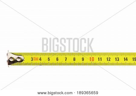 Tape Measure In Yellow Color With Metallic Tip