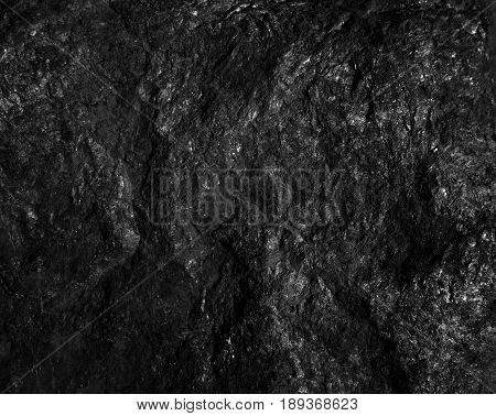 The surface of the black coal. dark background