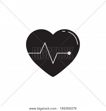 Heartbeat solid icon, cardio, vector graphics, a filled pattern on a white background, eps 10.