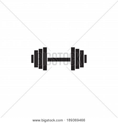 Dumbbel solid icon, gym tool, vector graphics, a filled pattern on a white background, eps 10.