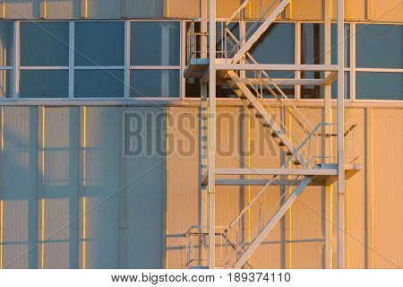Metail Stairs On A Building