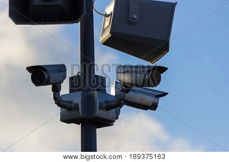 Urban Security Video Camera Outdoors