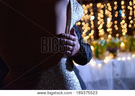 Dance Of A Bride And Groom