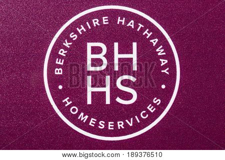Lafayette - Circa June 2017: Berkshire Hathaway HomeServices Sign. HomeServices is subsidiary of Berkshire Hathaway Energy III