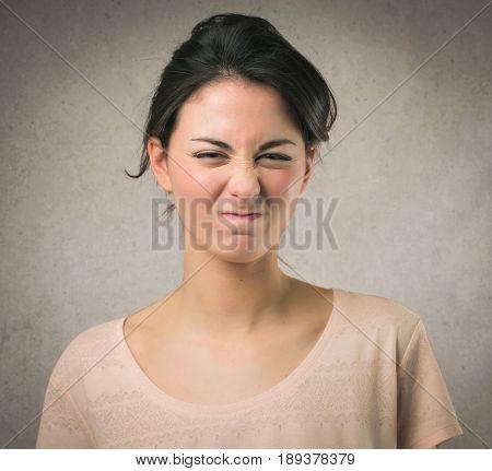 Annoyed girl