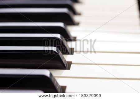 Close-up Of Piano Keyboard.