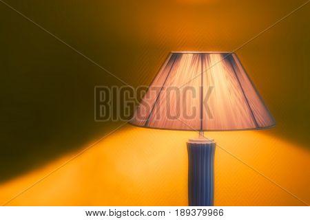Nice Luminous Desk Lamp On Ginger Background