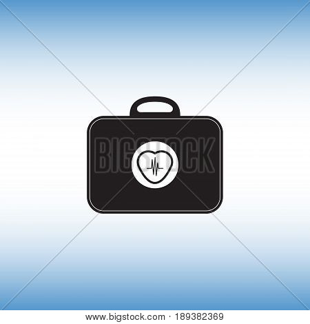 Electrocardiogram tool box vector symbol. Heart beat flat vector sign. Heart beat isolated icon.