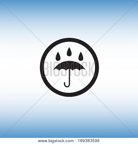 Umbrella isolated vector sign. Umbrella flat vector icon. Waterproof symbol vector illustration.