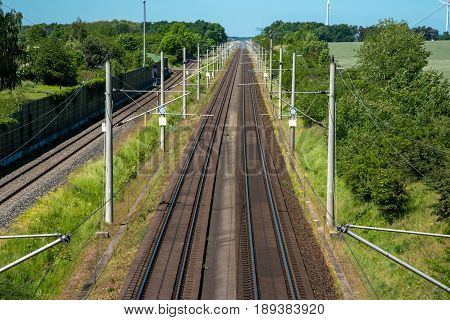 Two highspeed railway tracks seen in Germany