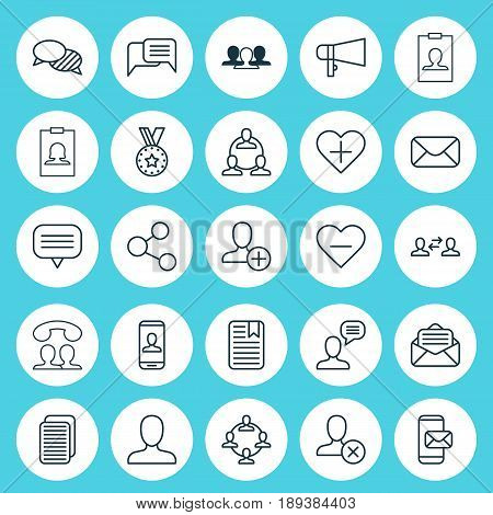 Communication Icons Set. Collection Of Bullhorn, Message, Team Organisation And Other Elements. Also Includes Symbols Such As Insert, Unfollow, People.
