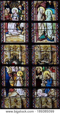 Stained Glass - Scenes In The Life Of The Virgin Mary