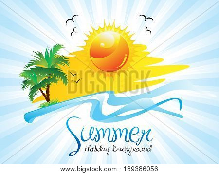 abstract artistic detailed summer holiday vector illustration
