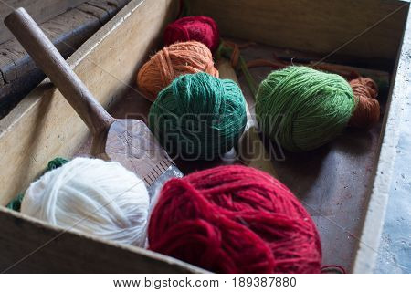 Colored Yarn Balls